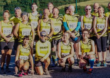 The Bridlington Road Runners team at Bishop WIlton for the opening round of the East Yorkshire Cross Country League.